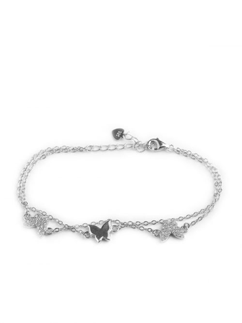 Klockiasmycken Silver Armband Butterflies BDZ0127