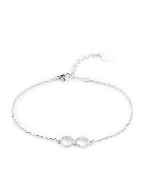 Klockiasmycken Silver Armband Infinity BCL0006