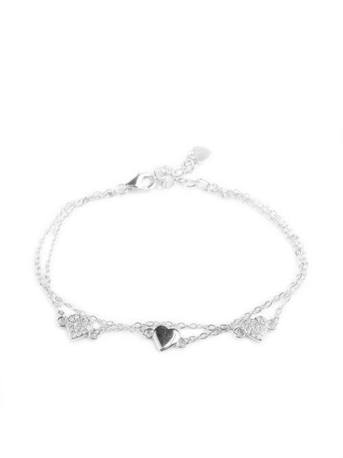 Klockiasmycket Silver Armband Butterflies BDZ0140