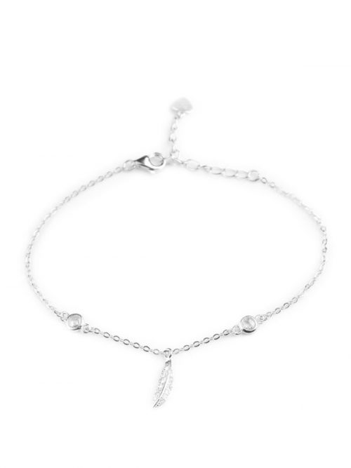 Klockiasmycket Silver Armband Feather BDZ0132