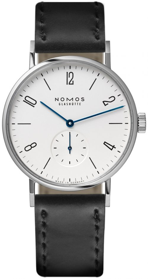 Nomos Glashütte Tangomat Herrklocka N-601 Vit/Läder Ø38.3 mm