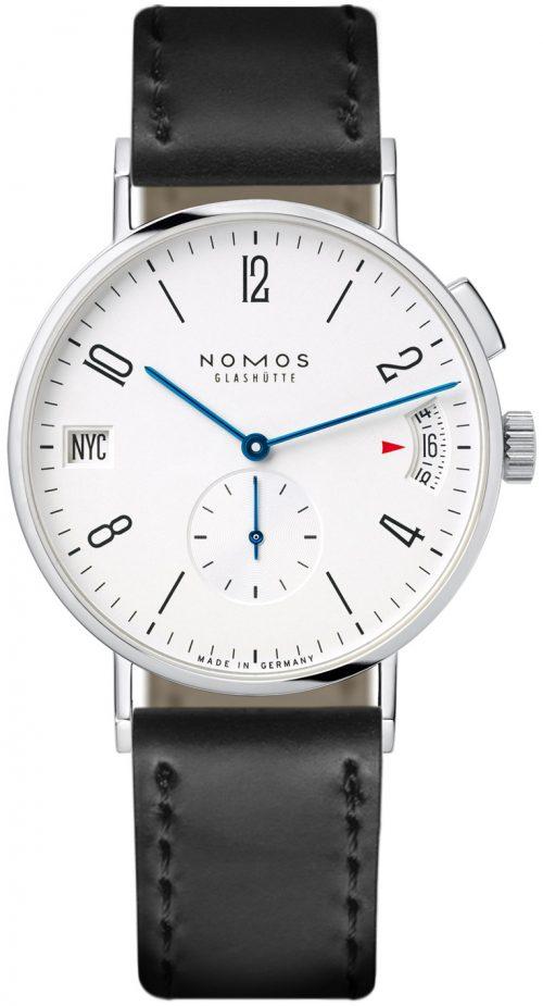 Nomos Glashütte Tangomat Herrklocka N-635 Vit/Läder Ø40 mm