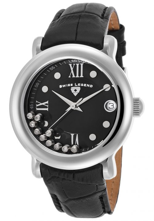 Swiss Legend Diamanti Damklocka SL-22388-01 Svart/Läder Ø38 mm