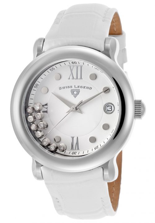 Swiss Legend Diamanti Damklocka SL-22388-02 Vit/Läder Ø38 mm