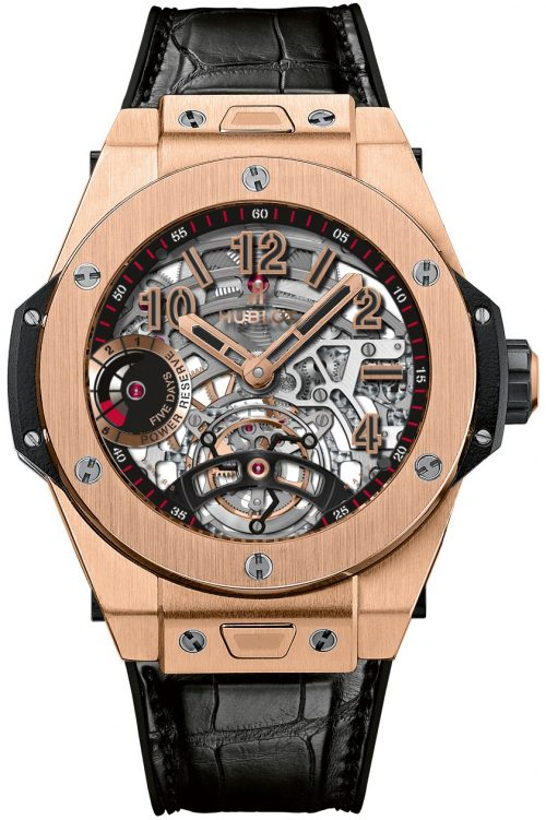 Hublot Big Bang 45Mm Herrklocka 405.OX.0138.LR Skelettskuren/Gummi
