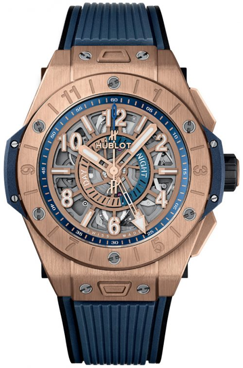 Hublot Big Bang 45Mm Herrklocka 471.OL.7128.RX Skelettskuren/Gummi