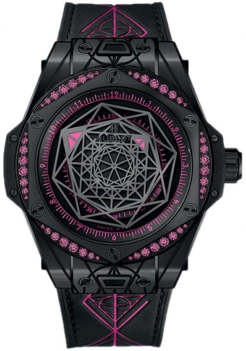 Hublot Big Bang 39Mm Damklocka 465.CS.1119.VR.1233.MXM18 Svart/Gummi