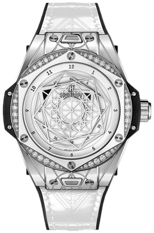 Hublot Big Bang 39Mm Damklocka 465.SS.2027.VR.1204.MXM19 Vit/Gummi