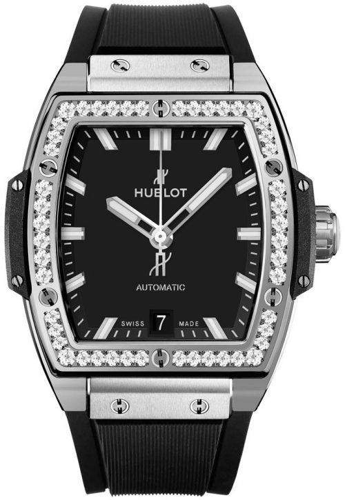 Hublot Big Bang 39Mm Damklocka 665.NX.1170.RX.1204 Svart/Gummi