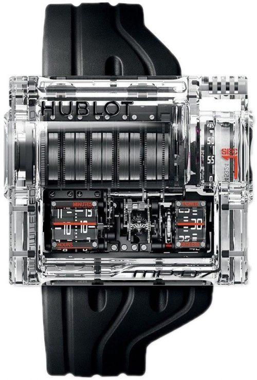 Hublot Mp Herrklocka 907.JX.0001.RX Skelettskuren/Gummi