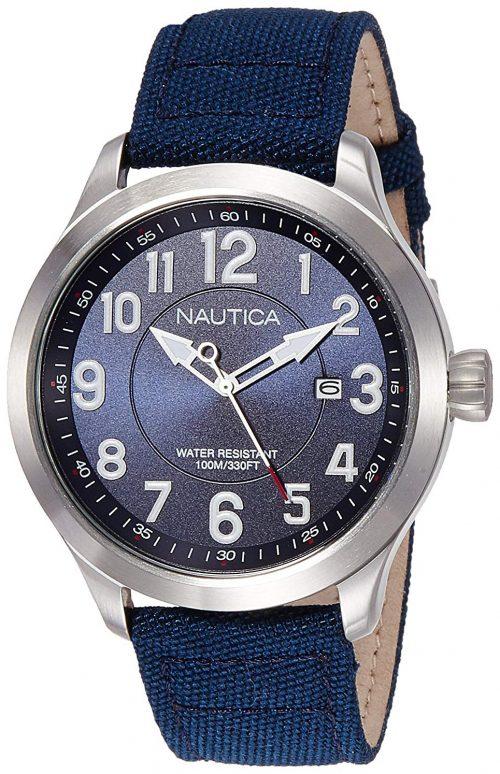 Nautica Ncc 01 Herrklocka NAI10501G Blå/Läder Ø44 mm