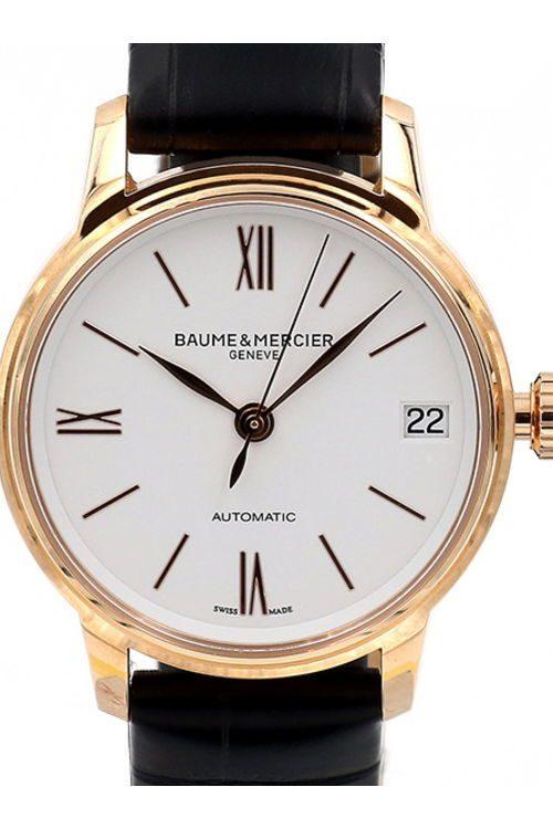 Baume & Mercier Classima Damklocka M0A10270 Vit/Läder Ø31 mm