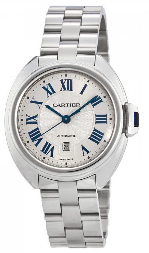 Cartier Cle de Damklocka WSCL0005 Silverfärgad/Stål Ø31 mm