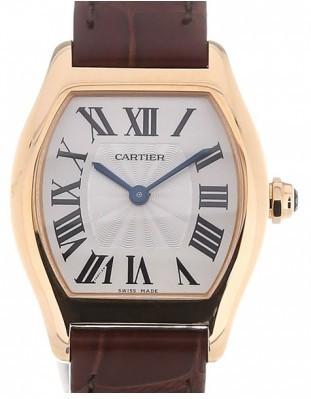 Cartier Tortue Damklocka W1556360 Silverfärgad/Läder