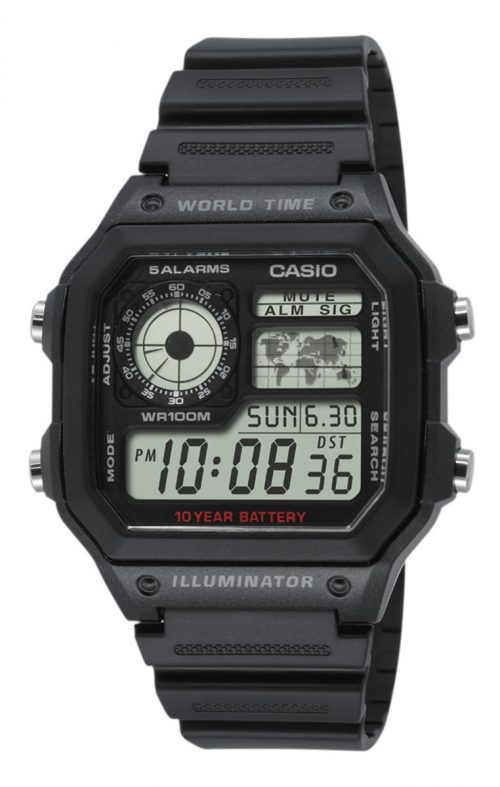 Casio Collection AE-1200WH-1AVEF LCD/Resinplast
