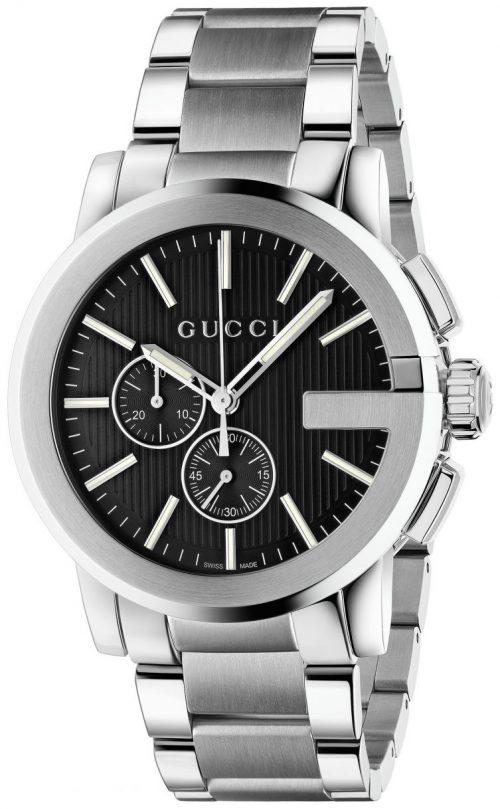 Gucci G Chrono Herrklocka YA101204 Svart/Stål Ø44 mm