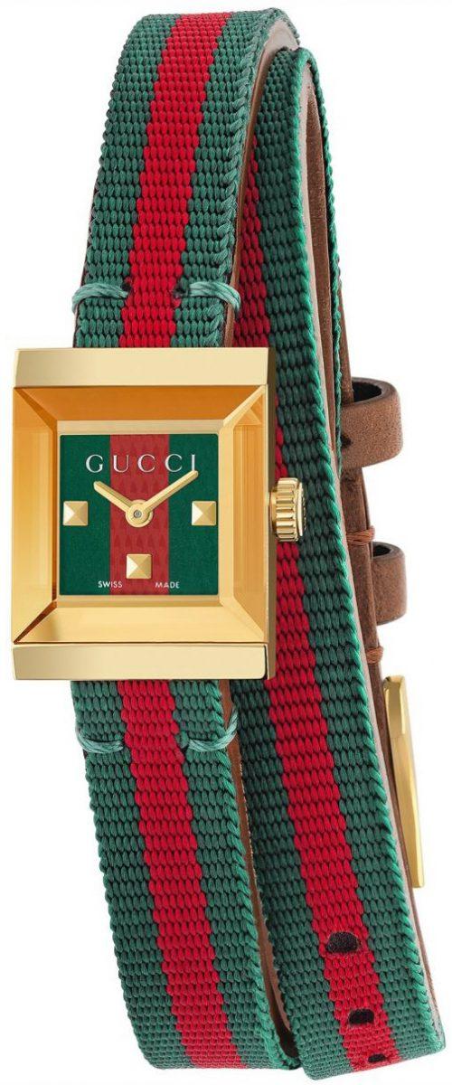 Gucci G- Frame Damklocka YA128527 Flerfärgad/Läder