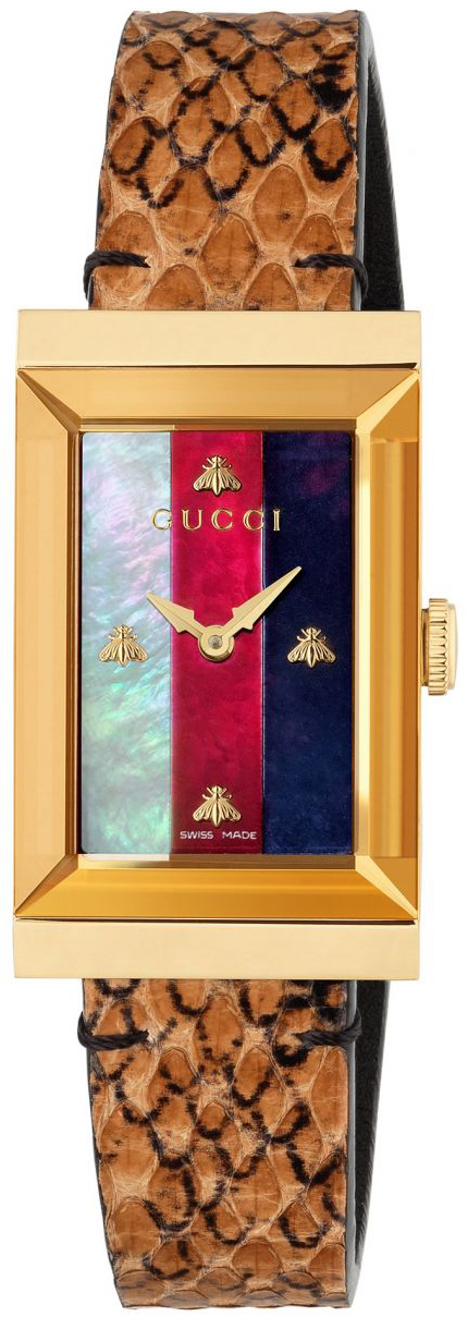 Gucci G- Frame Damklocka YA147402 Flerfärgad/Läder