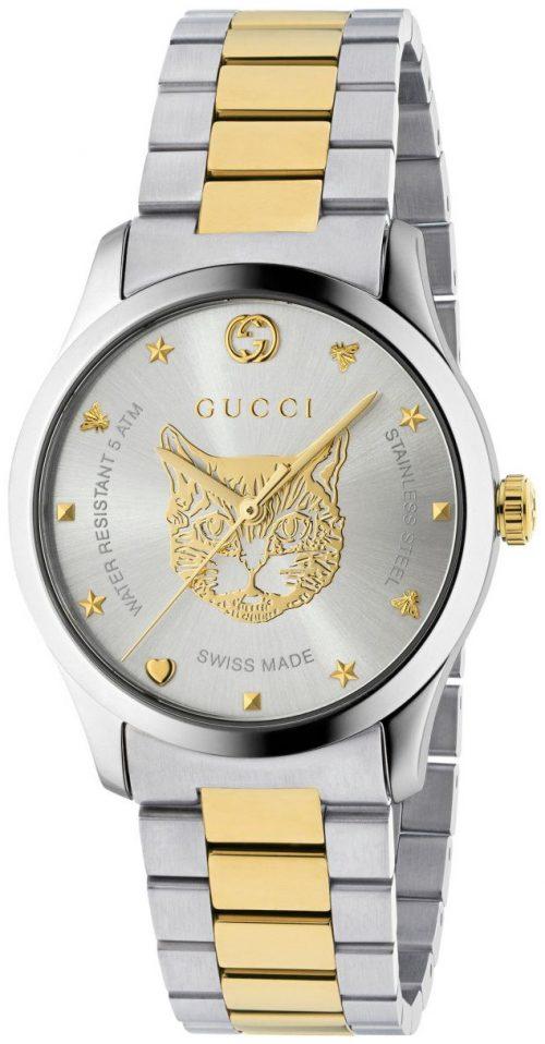 Gucci G-Timeless YA1264074 Silverfärgad/Gulguldtonat stål Ø38 mm