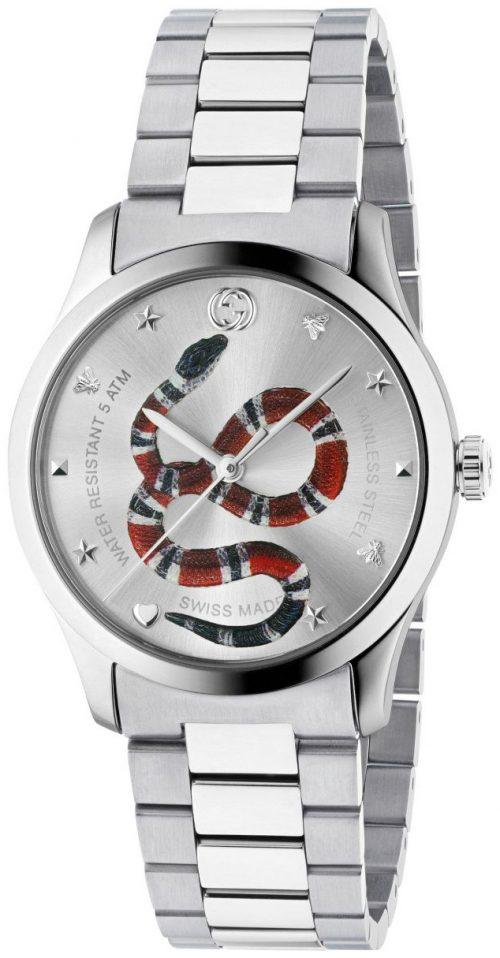 Gucci G-Timeless YA1264076 Silverfärgad/Stål Ø38 mm