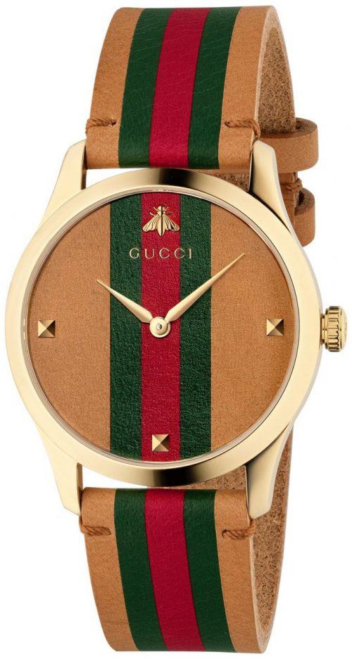 Gucci G-Timeless YA1264077 Flerfärgad/Läder Ø38 mm