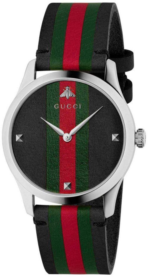 Gucci G-Timeless YA1264079 Flerfärgad/Läder Ø38 mm