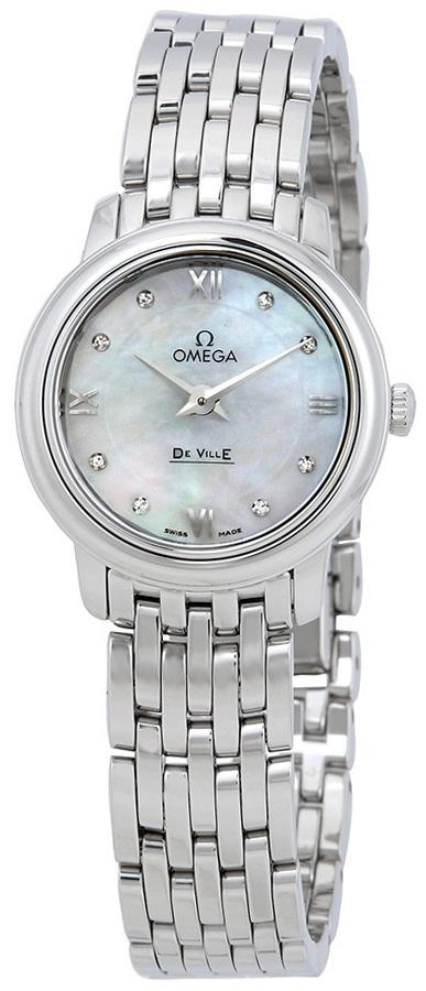 Omega De Ville Prestige Damklocka 424.10.24.60.55.001 Vit/Stål