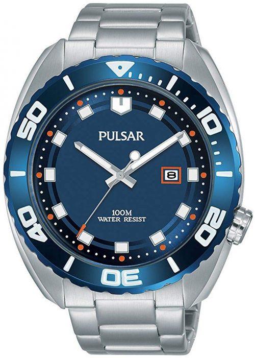 Pulsar Sport Herrklocka PG8281X1 Blå/Stål Ø45 mm