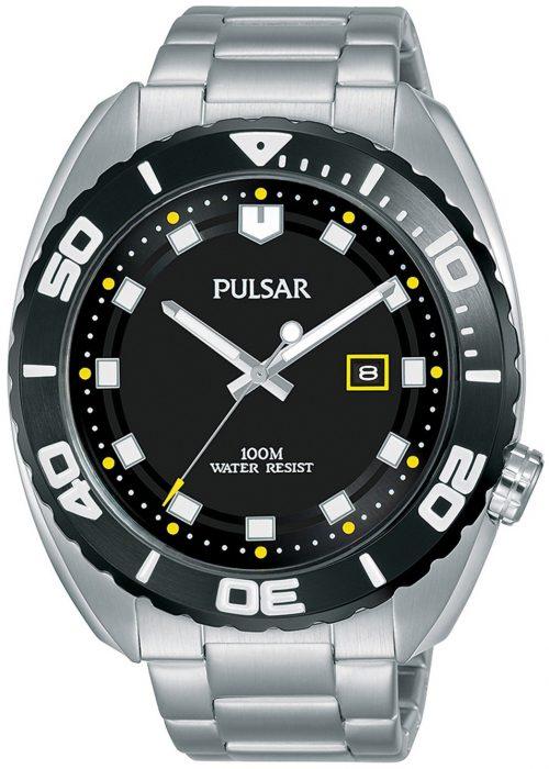 Pulsar Sport Herrklocka PG8283X1 Svart/Stål Ø45 mm