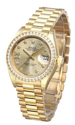 Rolex Lady-Datejust 28 Damklocka 279138RBR-0006 Gulguldstonad/18