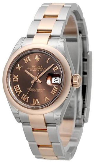 Rolex Lady-Datejust 28 Damklocka 279161-0010 Brun/18 karat roséguld