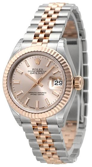 Rolex Lady-Datejust 28 Damklocka 279171-0001 Roséguldstonad/18 karat