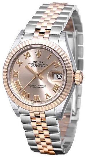 Rolex Lady-Datejust 28 Damklocka 279171-0005 Roséguldstonad/18 karat