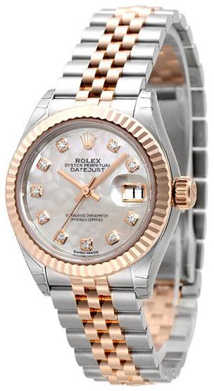 Rolex Lady-Datejust 28 Damklocka 279171-0013 Vit/18 karat roséguld
