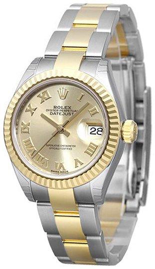 Rolex Lady-Datejust 28 Damklocka 279173-0010 Gulguldstonad/18 karat