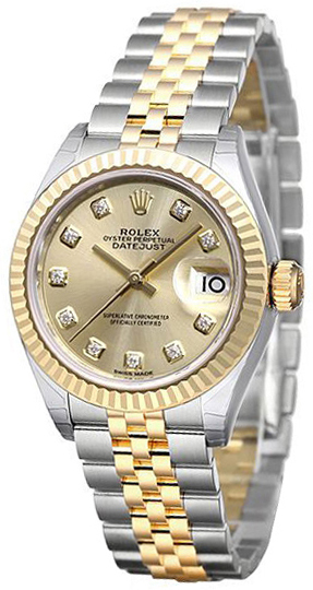 Rolex Lady-Datejust 28 Damklocka 279173-0011 Gulguldstonad/18 karat