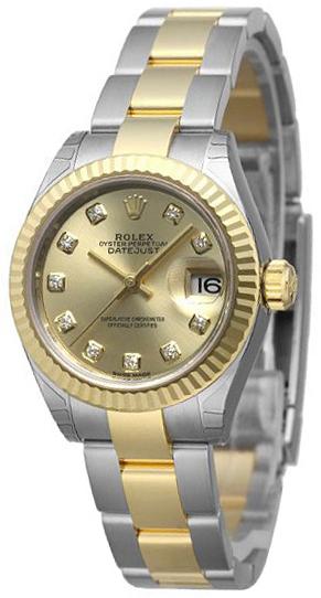 Rolex Lady-Datejust 28 Damklocka 279173-0012 Gulguldstonad/18 karat