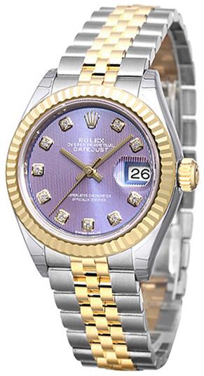 Rolex Lady-Datejust 28 Damklocka 279173-0017 Lila/18 karat gult guld