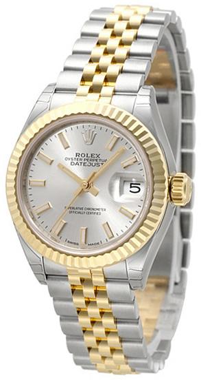 Rolex Lady-Datejust 28 Damklocka 279173-0019 Silverfärgad/18 karat