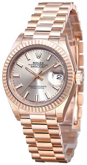 Rolex Lady-Datejust 28 Damklocka 279175-0001 Silverfärgad/18 karat