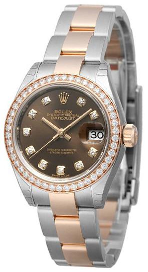 Rolex Lady-Datejust 28 Damklocka 279381RBR-0004 Brun/18 karat