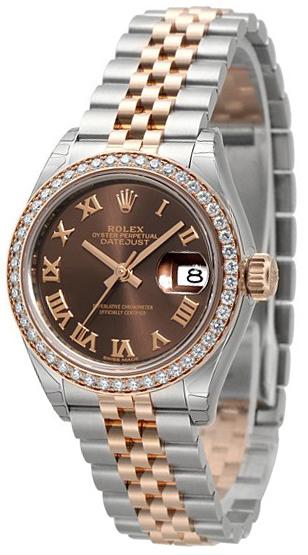Rolex Lady-Datejust 28 Damklocka 279381RBR-0009 Brun/18 karat