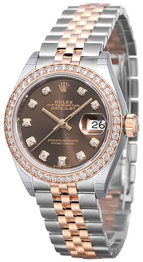 Rolex Lady-Datejust 28 Damklocka 279381RBR-0011 Brun/18 karat