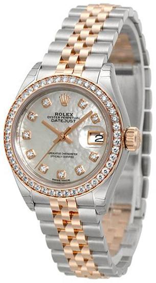 Rolex Lady-Datejust 28 Damklocka 279381RBR-0013 Vit/18 karat