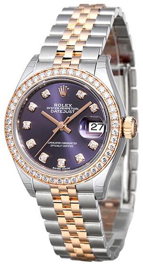 Rolex Lady-Datejust 28 Damklocka 279381RBR-0015 Lila/18 karat
