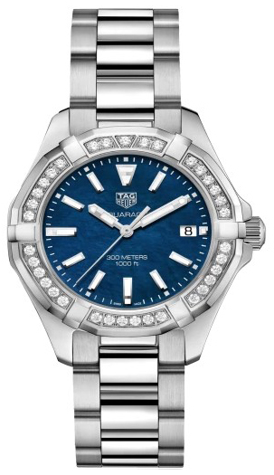 TAG Heuer Aquaracer Lady Damklocka WAY131N.BA0748 Blå/Stål Ø35 mm