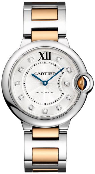 Cartier Ballon Bleu De Cartier Damklocka W3BB0018 Silverfärgad/18