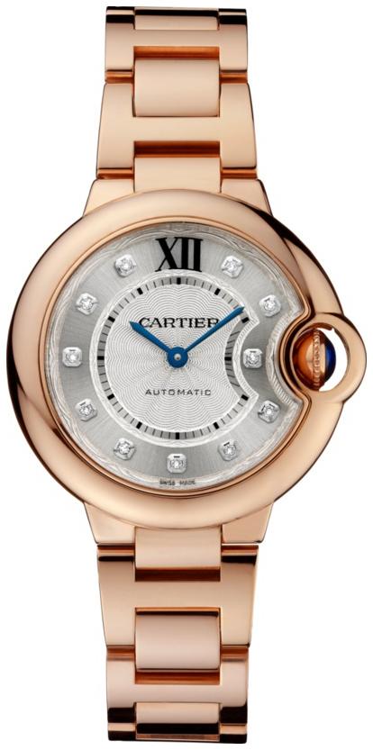 Cartier Ballon Bleu De Cartier Damklocka WE902062 Silverfärgad/18