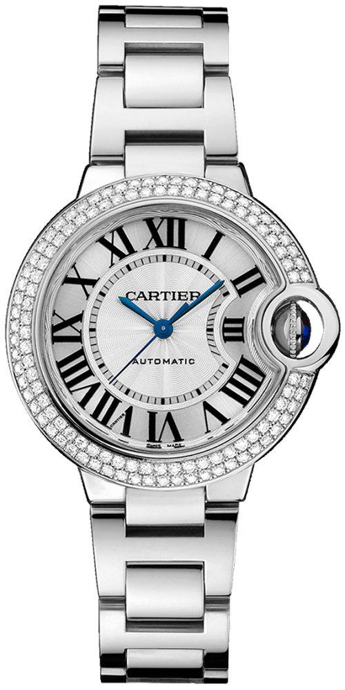Cartier Ballon Bleu De Cartier Damklocka WE902065 Silverfärgad/18