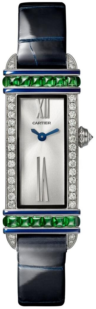 Cartier Libre Damklocka WJLI0012 Silverfärgad/Läder